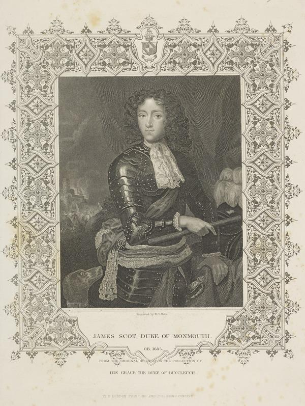 James Scott, Duke of Monmouth and Buccleuch, 1649 - 1685. Natural son of Charles II by Lucy Walter
