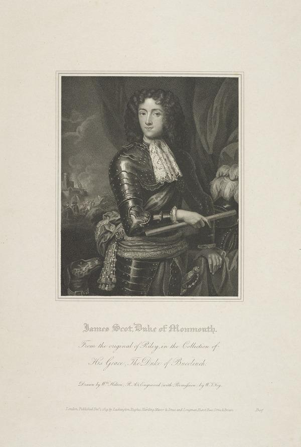 James Scott, Duke of Monmouth and Buccleuch, 1649 - 1685. Natural son of Charles II by Lucy Walter (Published 1819)