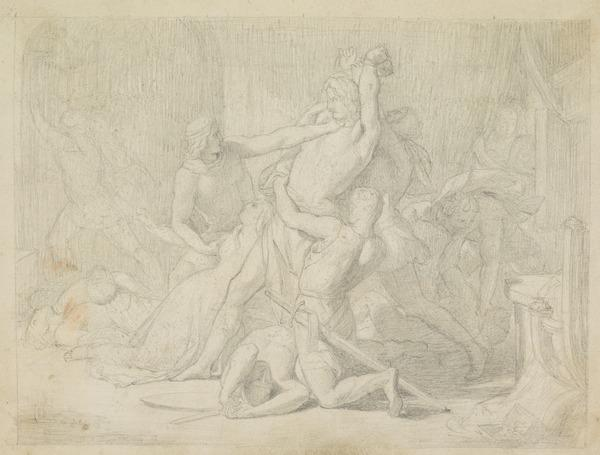 A Scene from Medieval History. Possibly a Study for the Painting 'The Seizure of Roger Mortimer by Edward III' (About 1847)