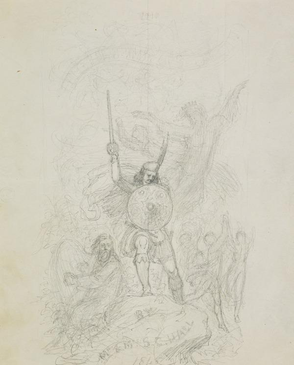 Design for the Title Page to 'The Highlands of Scotland' (Dated 1845)