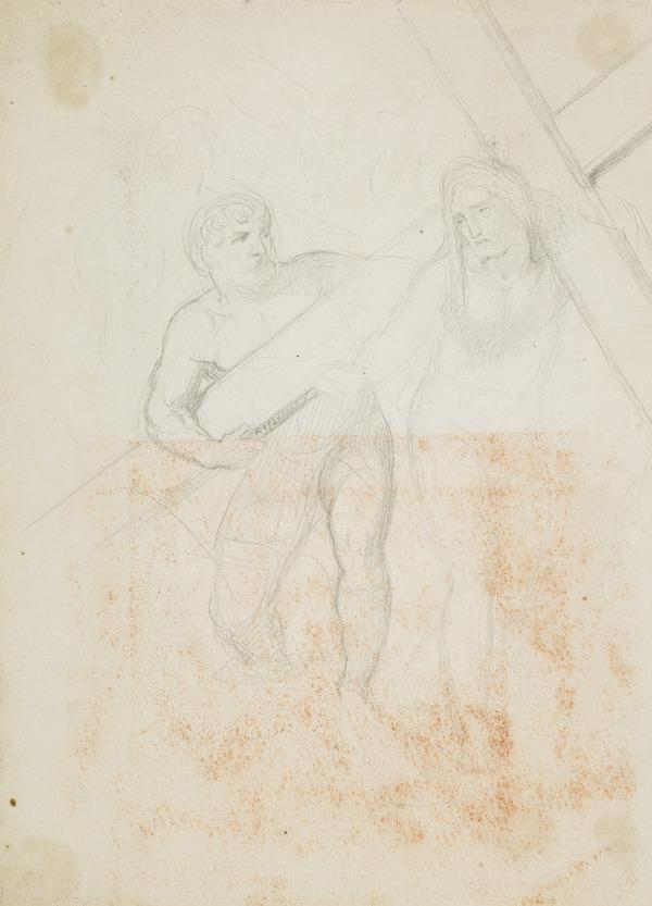 Study for the Painting 'Christ Bearing his Cross' (About 1848)