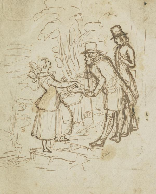 Two Men Talking to a Girl