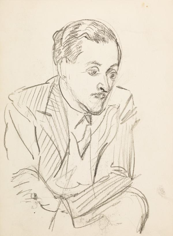 Portrait of a man wearing a suit, sitting (Executed early / mid 1930s)