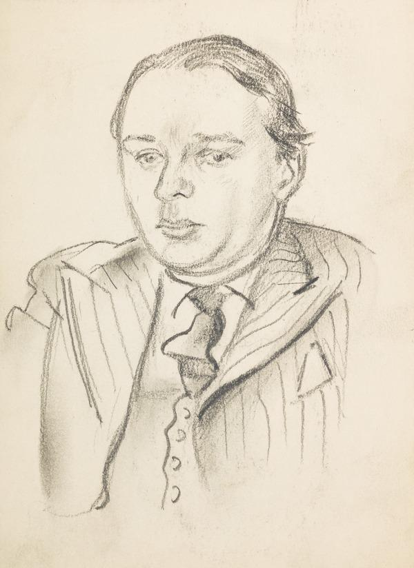 Sketch of a man in a suit (Executed early / mid 1930s)