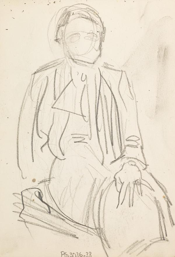 Sketch of man sitting (Executed early / mid 1930s)