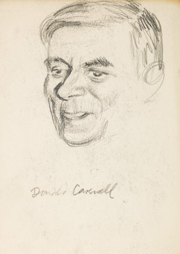 Portrait of Donald Carewell (?) (head only) (Executed early / mid 1930s)