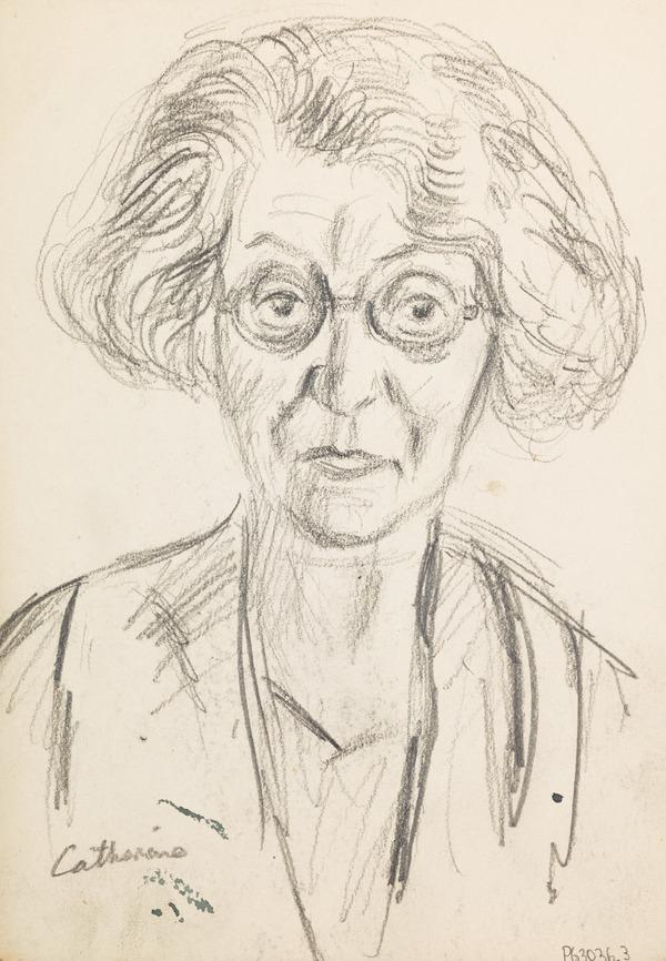 """Sketch of a Woman, inscribed """"Catherine"""" (Executed early / mid 1930s)"""