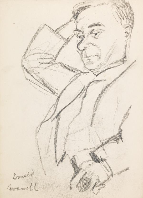 """Sketch of a Man, inscribed """"Donald Carewell"""" (?) (Executed early / mid 1930s)"""
