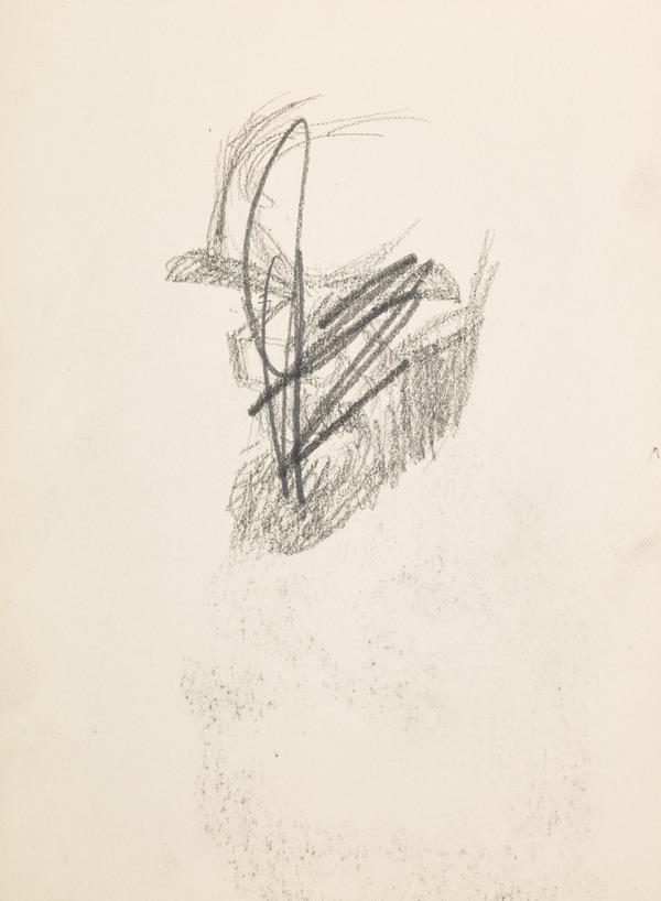 Sketch of a mans head, scored out (Executed early / mid 1930s)