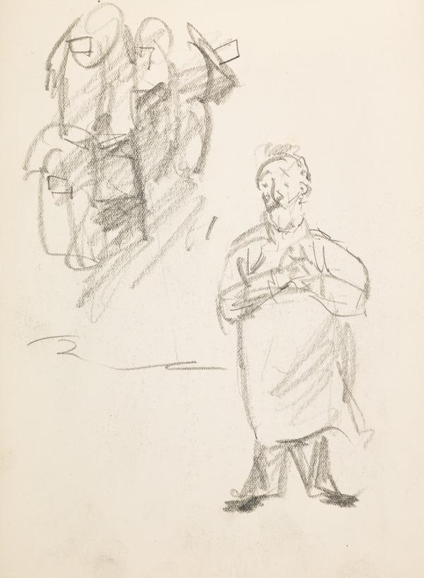 Two sketches representing a group and a man (Executed early / mid 1930s)