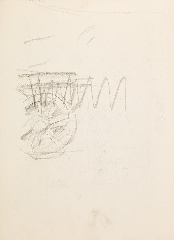 Doodles, sketch of a wheel (Executed early / mid 1930s)