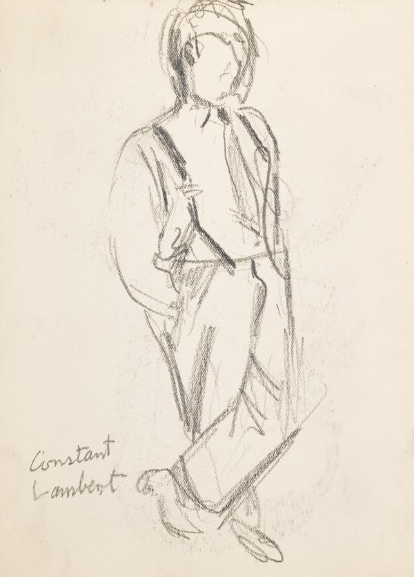 """Full figure sketch, inscribed """"C. L."""" (Executed early / mid 1930s)"""