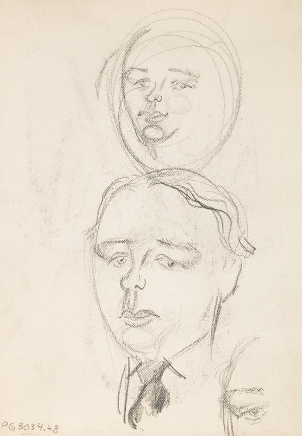 Sketches of a man's face (Executed early / mid 1930s)