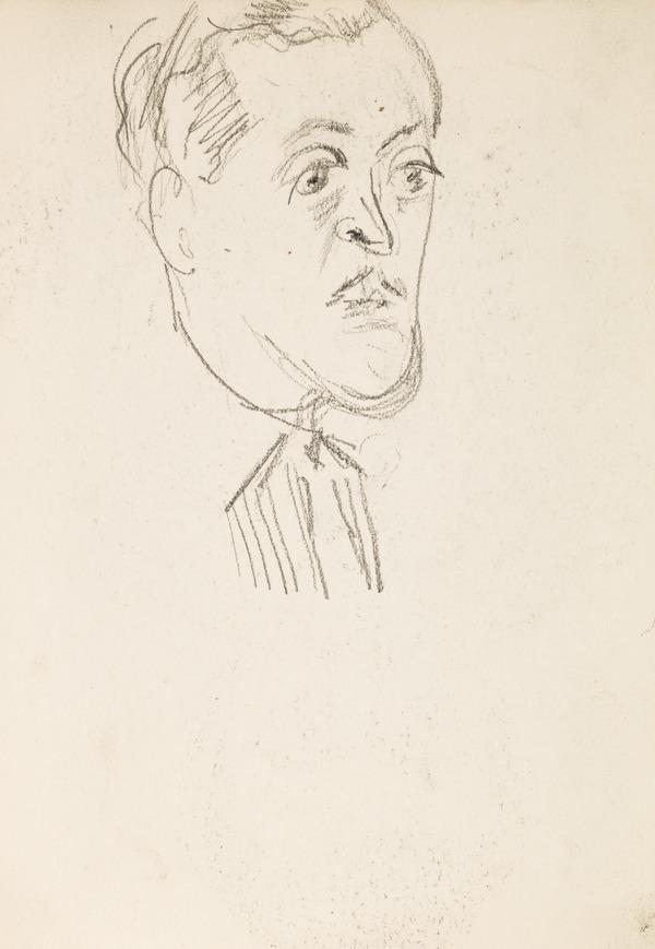 Sketch of a man's head (Executed early / mid 1930s)