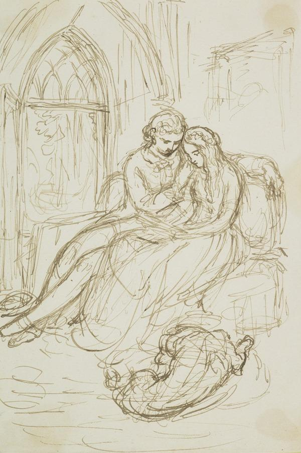 Lovers Seated in a Gothic Room