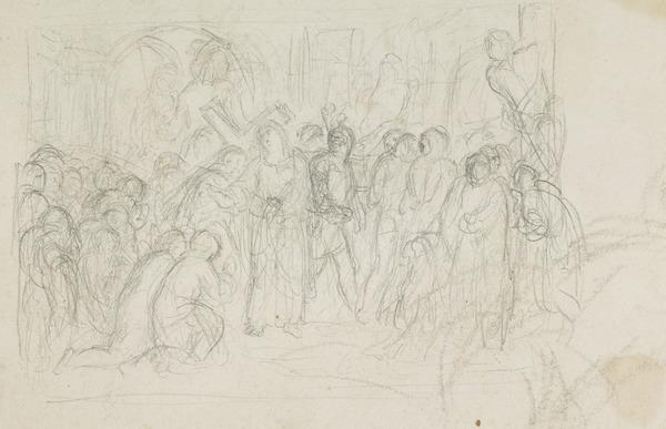 Possibly a Study for the Painting 'Christ Bearing his Cross' (About 1848)