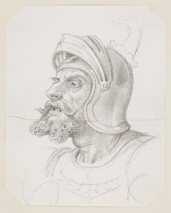 The Head of a Knight. Study Relating to the Drawing 'The Pursuit of Pleasure'