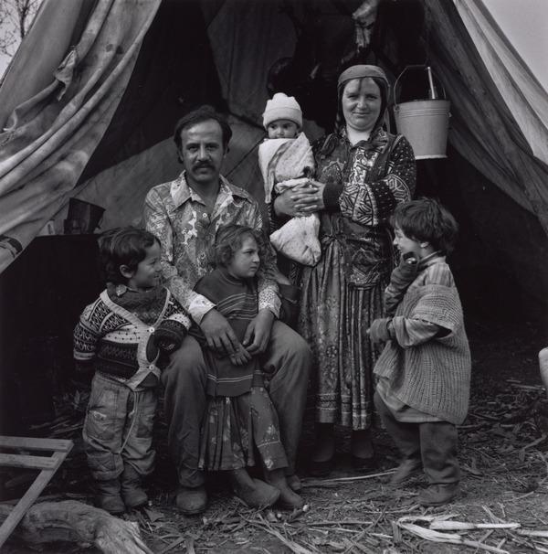 Victor and Marita Mihai with Children, Sintesti, Romania (1993)