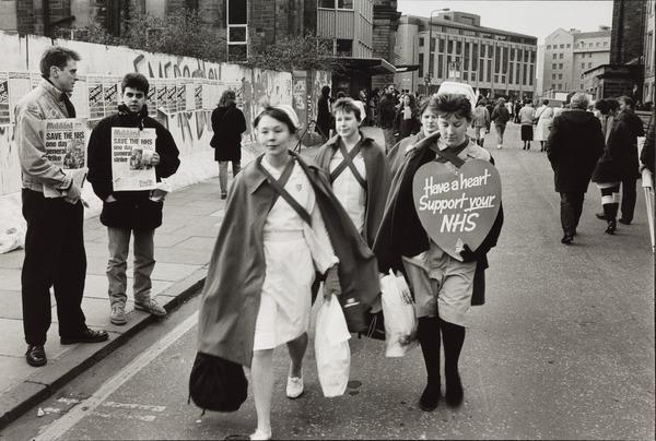 One Day Strike for the National Health Service, Cambridge Street, Edinburgh (1988)