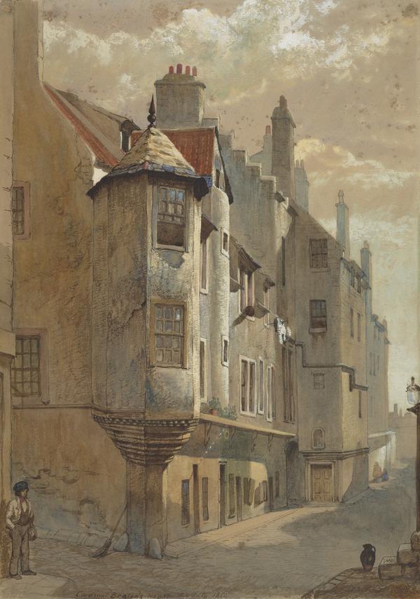Cardinal Beaton's House, Cowgate, Edinburgh (Dated July 24, 1854)