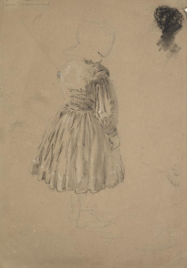 Study of a Standing Girl [Verso: Study of a Bearded Man]