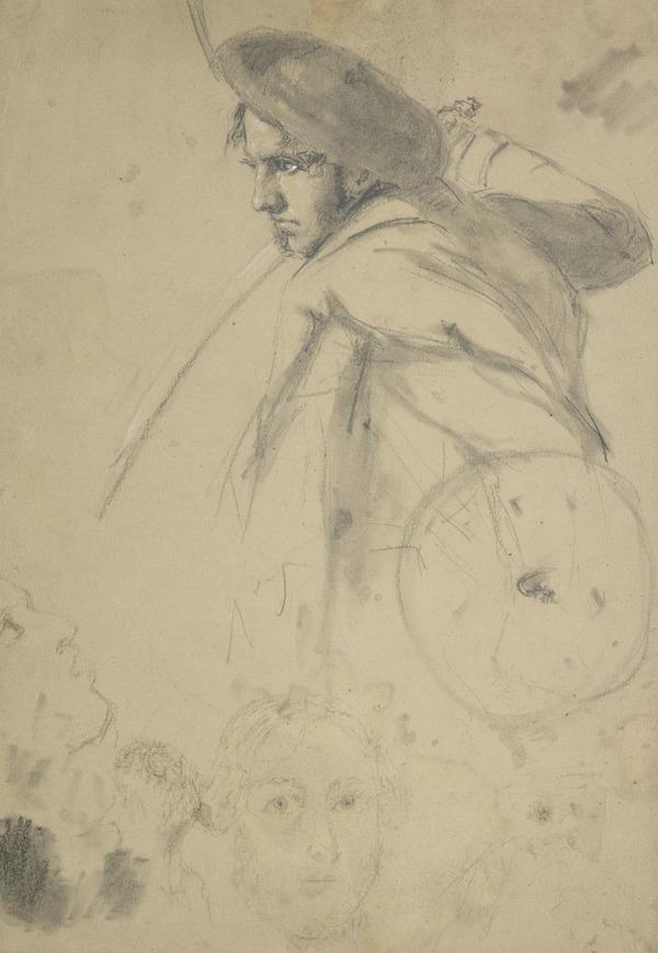 Study of a Highlander with a Targe and Broadsword