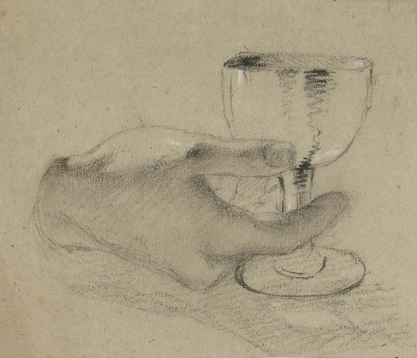 Study of a Hand Holding a Chalice