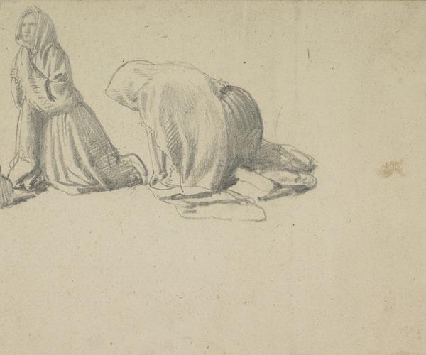 Study of Two Kneeling Women