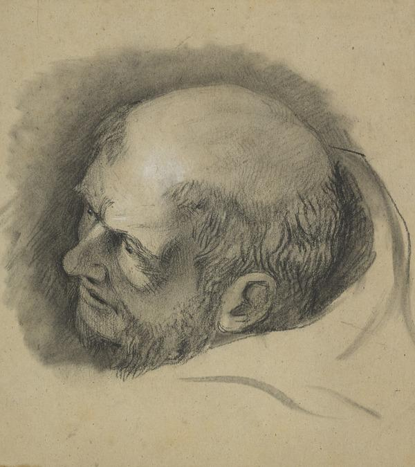 The Head of a Monk. Study for the Painting 'George Wishart ... on his Way to Execution Administered the Sacrament for the First Time in Scotland...