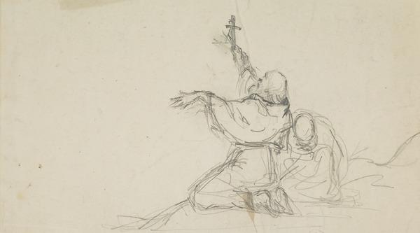 Two Monks. Study for the Painting 'Blessing the Scottish Army before the Battle of Bannockburn'