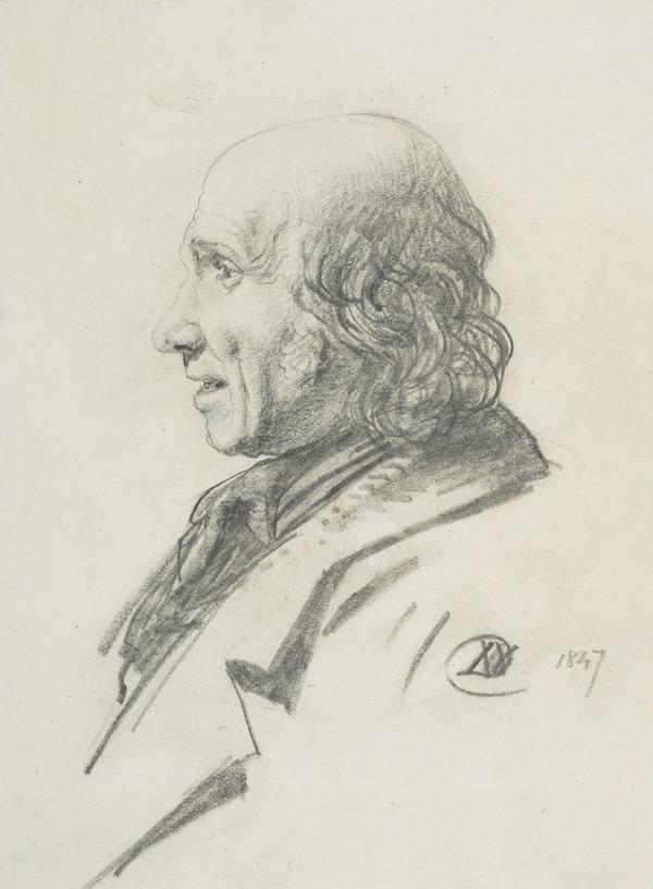 A man's head in profile