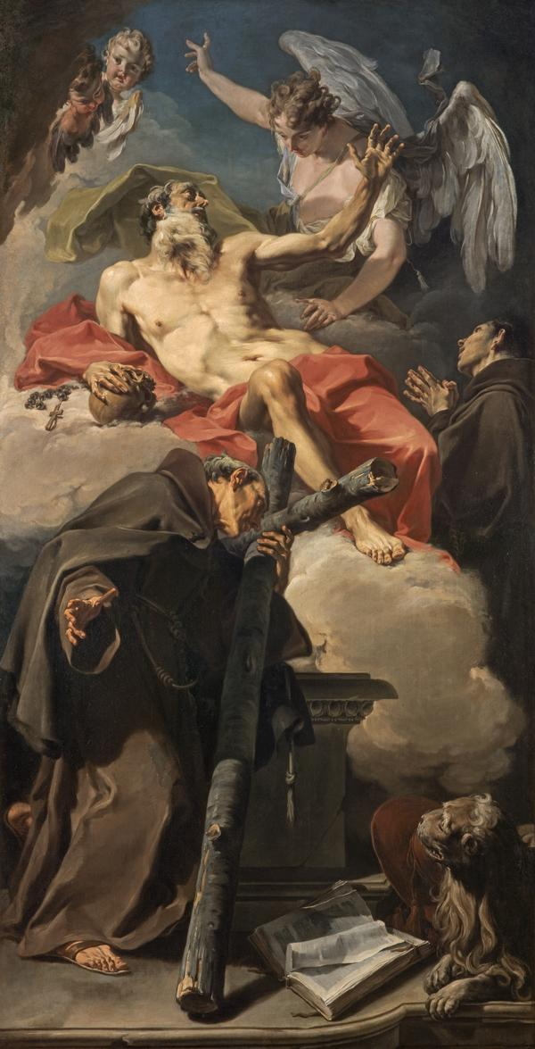 The Apotheosis of Saint Jerome with Saint Peter of Alcántara and an Unidentified Franciscan (About 1725)