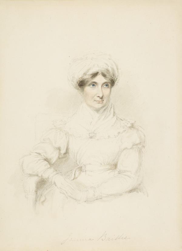 Joanna Baillie, 1762 - 1851. Dramatist and poet (About 1825)