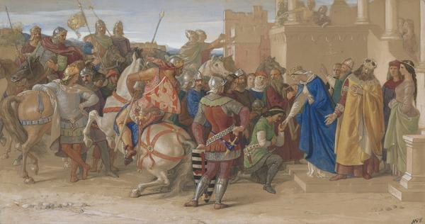 Piety: The Knights of the Round Table about to Depart in Quest of the Holy Grail (1849)