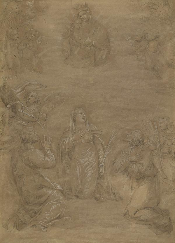 The Virgin and Child in Glory Adored by Three Martyr Saints