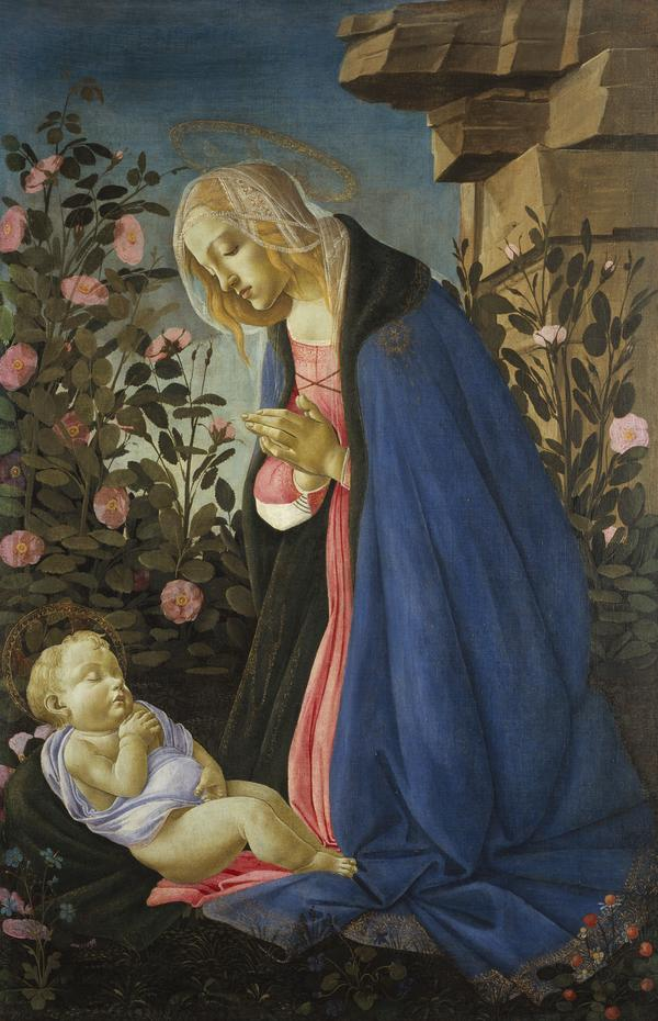 The Virgin Adoring the Sleeping Christ Child (About 1485)