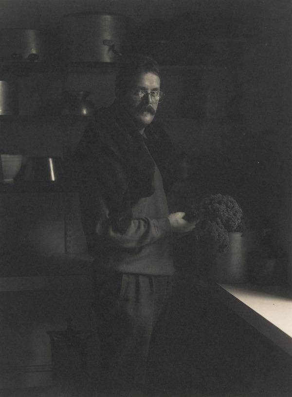 Man with Kale, Portrait of Murray Johnston (1986)