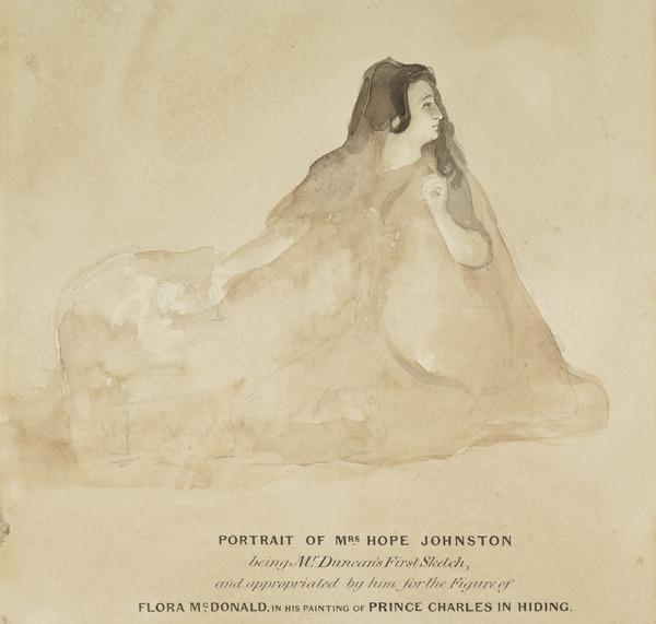 Mrs Hope Johnston. Study for the Painting 'Prince Charles in Hiding'