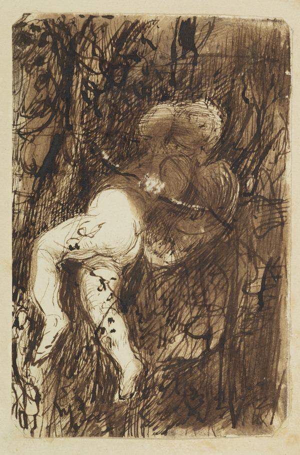 Cupid Among Foliage. Study for the Painting 'Cupid'