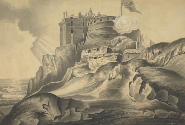 Edinburgh Castle from the East: The Half Moon Battery