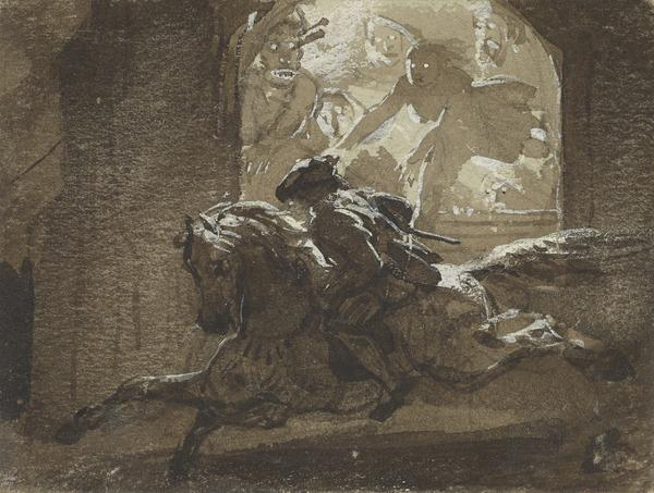 Illustration to 'Tam O'Shanter' by Robert Burns. Study for an Engraving