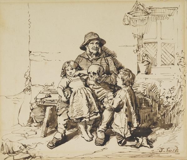 The Ploughman's Find. Study for the Painting 'Blenheim'