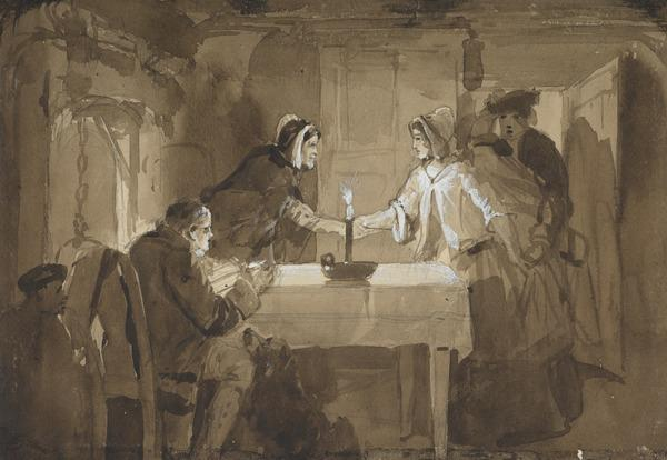Illustration to 'The Cottar's Saturday Night' by Robert Burns