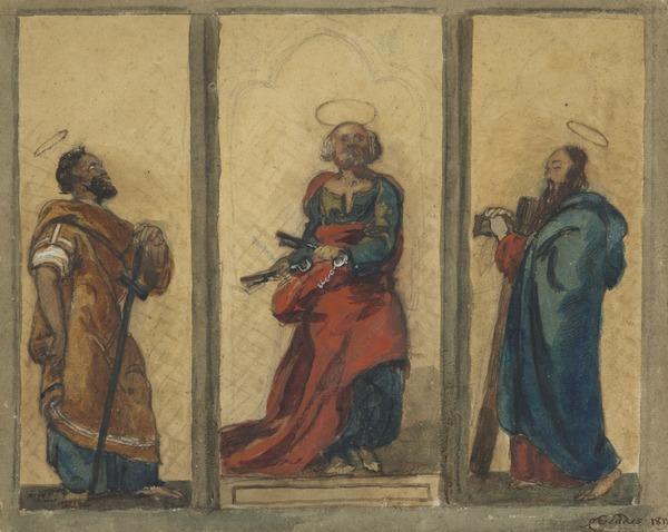 Saints Peter, Paul and Saint John the Baptist (Dated 1817)