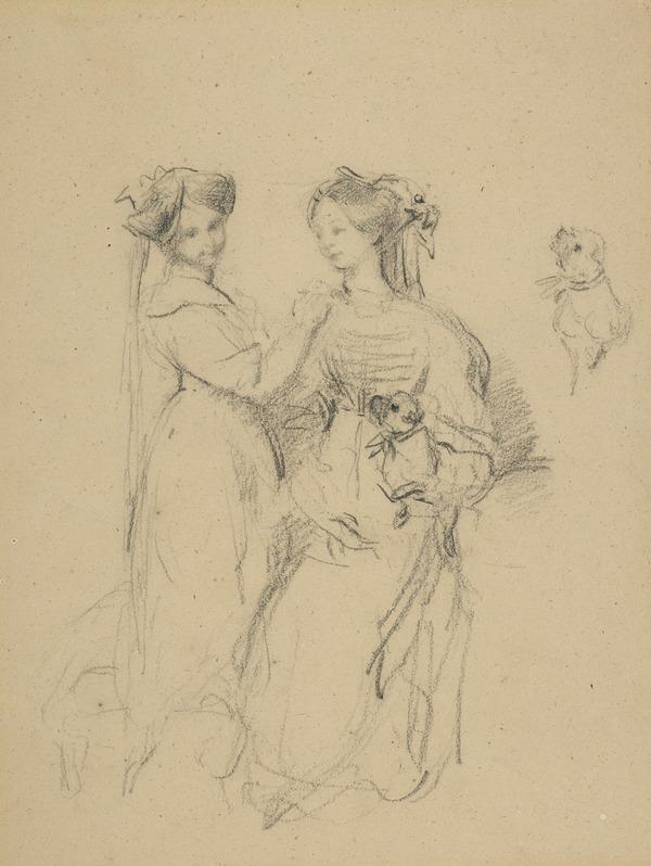 Study for the Painting of the Ladies Gwendoline and Mary Talbot