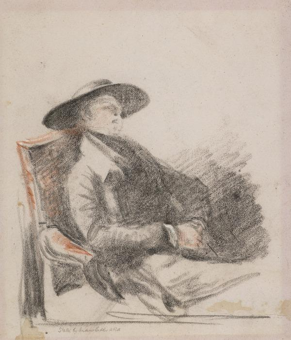 Study of a Seated Man Asleep (possibly Daniel Terry, c 1780 - 1829. Actor and dramatist)