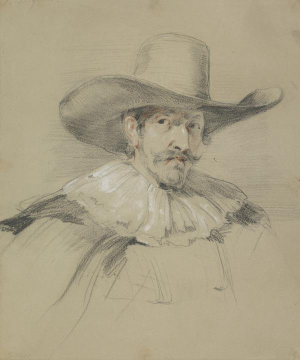 Study of a Man in 17th Century Costume