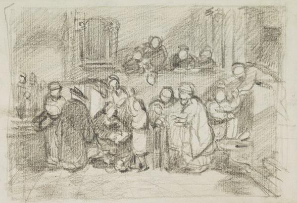 Compositional Study for 'Christ Among the Doctors'