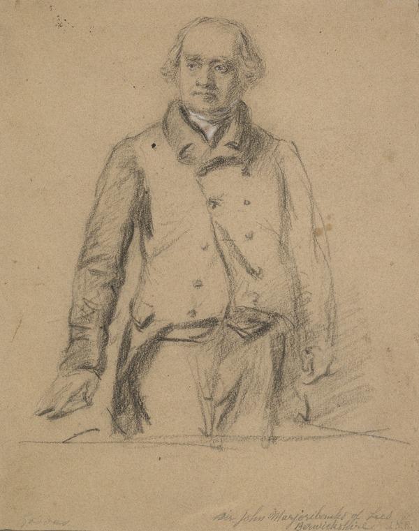 Study for the painting of Sir John Marjoribanks of Lees