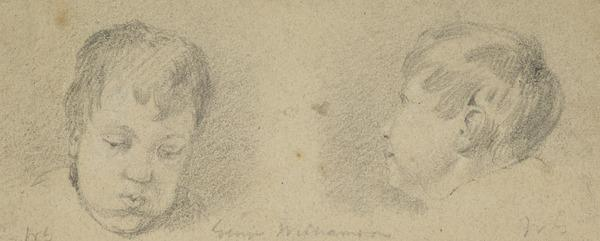 Two Studies of a Boy's Head